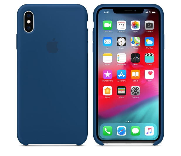 Apple iPhone XS Max Silicone Case Blue Horizon - 449601 - zdjęcie