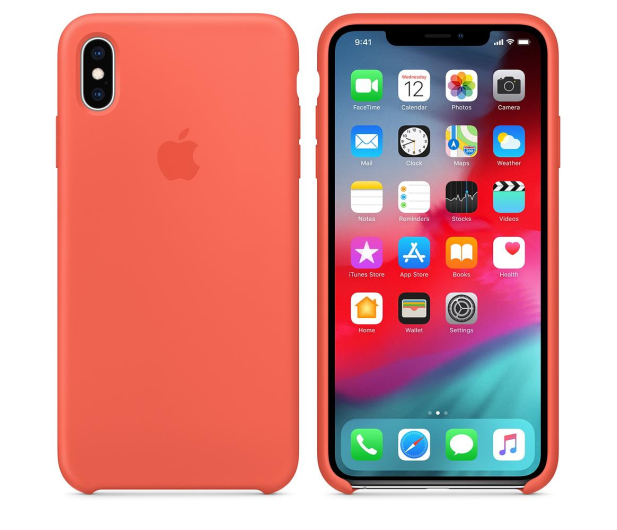 Apple iPhone XS Max Silicone Case Nectarine - 449602 - zdjęcie