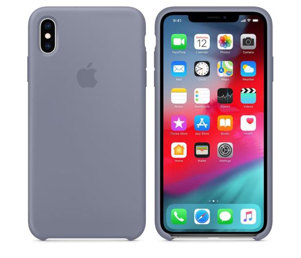 Apple iPhone XS Max Silicone Case Lavender Gray - 449603 - zdjęcie