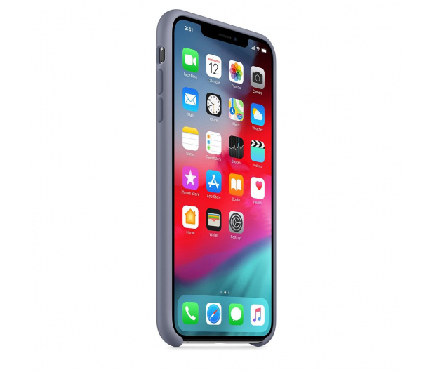 Apple iPhone XS Max Silicone Case Lavender Gray - 449603 - zdjęcie 2