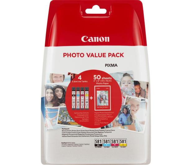Canon CLI-581 zestaw Photo 4 tuszów CMYK XL - 446995 - zdjęcie