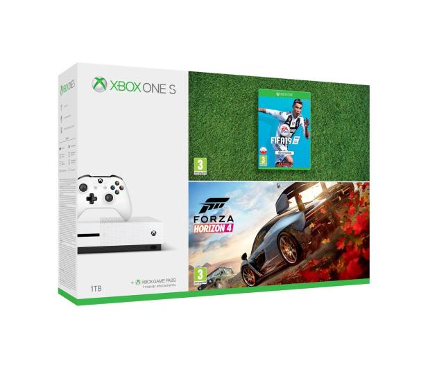 Microsoft Xbox One S 1TB + Forza Horizon 4 + FIFA19 - 451695 - zdjęcie