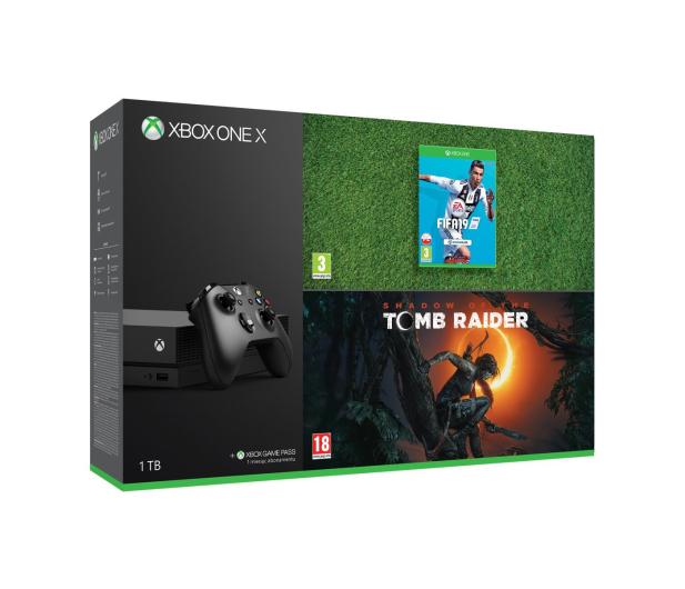 Microsoft Xbox One X 1TB + SOTTR + FIFA19 - 451696 - zdjęcie