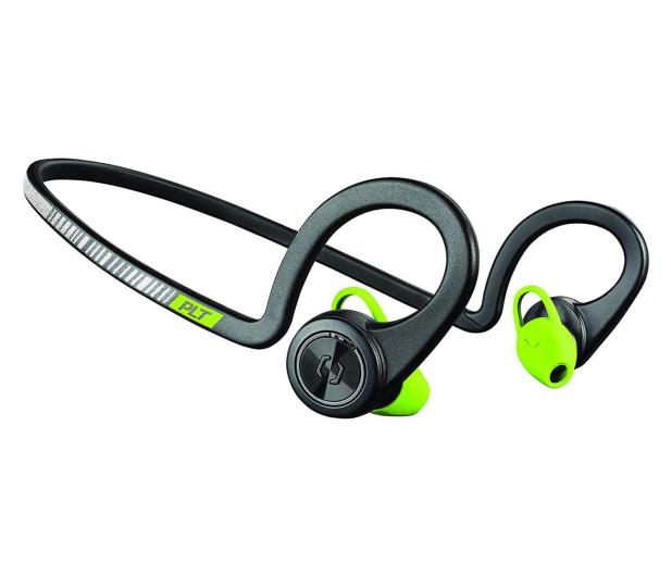 Plantronics Backbeat Fit czarno - zielone  - 450592 - zdjęcie