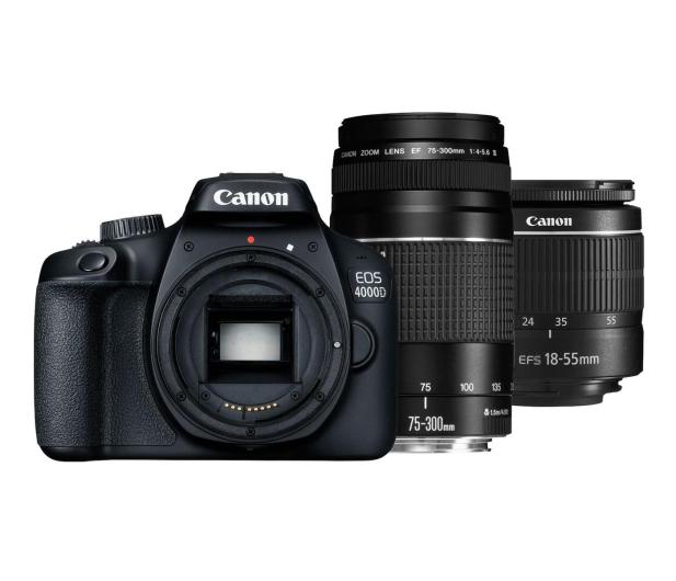 Canon EOS 4000D 18-55mm III+ 75-300mm III - 449577 - zdjęcie