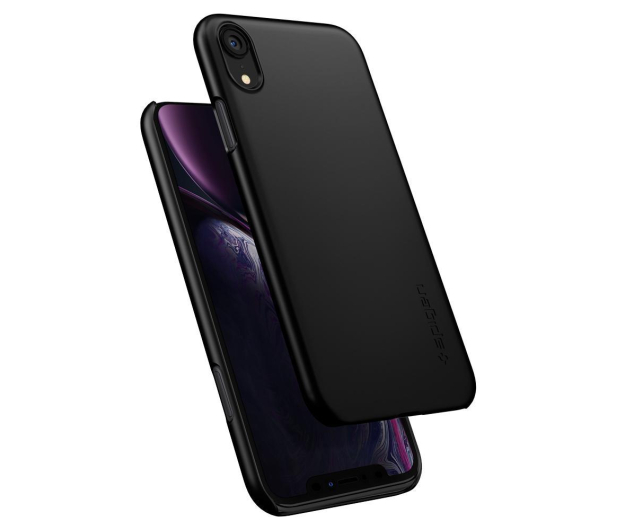 Spigen Thin Fit Case do iPhone XR Black - 452152 - zdjęcie 4