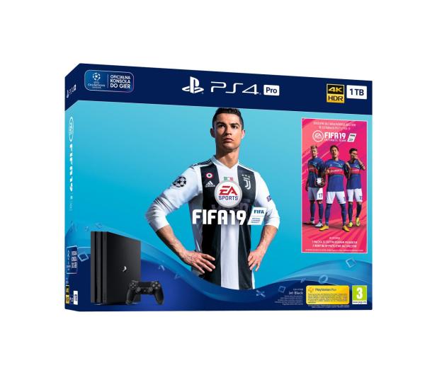 Sony Playstation 4 PRO 1TB + FIFA 19 - 436881 - zdjęcie