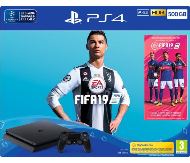 Sony Playstation 4 Slim 500GB + FIFA 19 - 436878 - zdjęcie 5