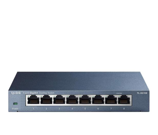 TP-Link 8p TL-SG108 Metal (8x10/100/1000Mbit) - 127183 - zdjęcie
