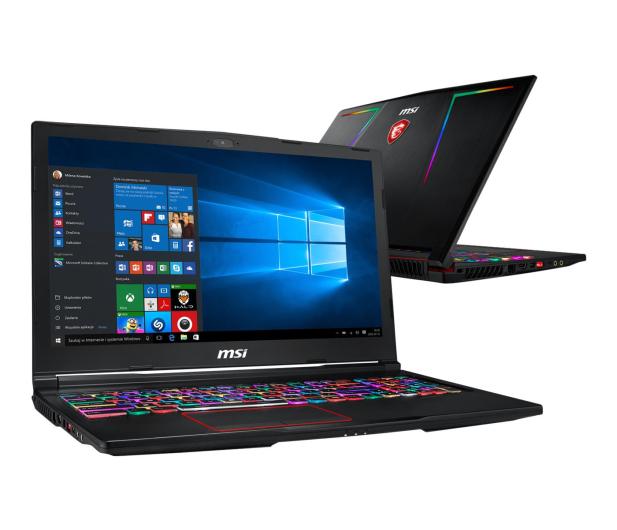 MSI GE63 i7-9750H/16GB/256+1TB/Win10 RTX2060 144Hz - 495347 - zdjęcie
