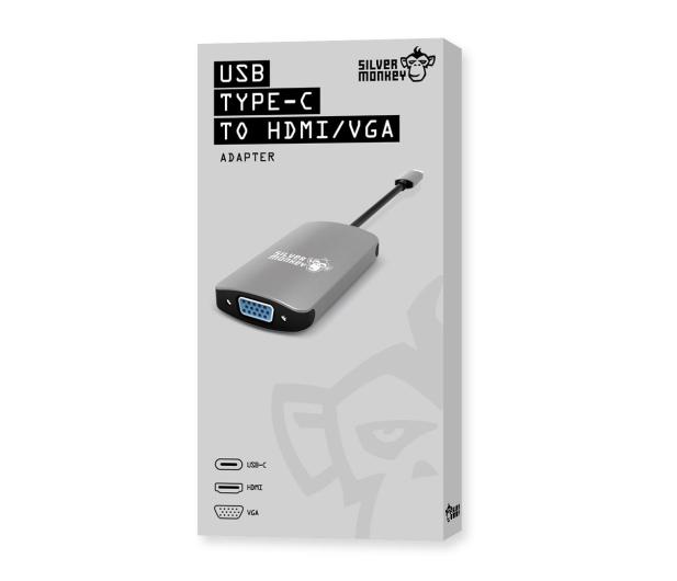 Silver Monkey Adapter USB-C - HDMI, VGA - 461268 - zdjęcie 7