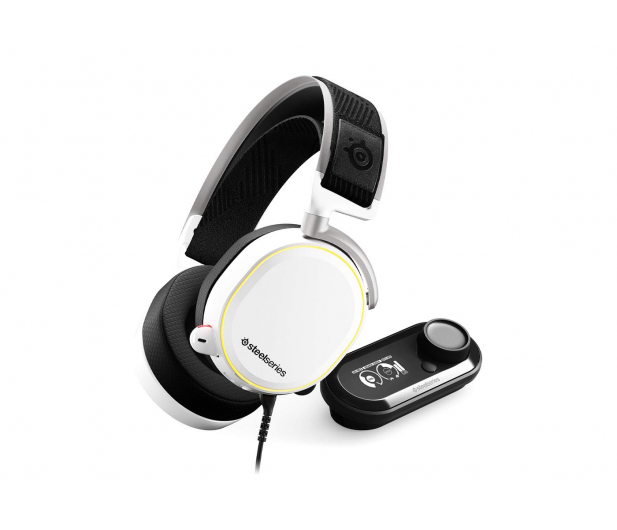 SteelSeries Arctis Pro + GameDAC białe - 474549 - zdjęcie