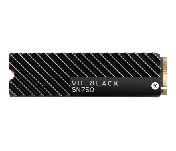 WD 500GB M.2 PCIe NVMe Black SN750 Heatsink - 474507 - zdjęcie