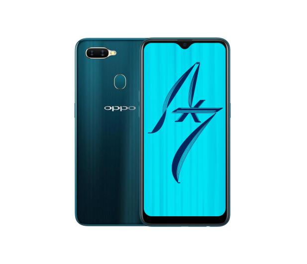 OPPO AX7 4/64GB Dual SIM niebieski - 508616 - zdjęcie