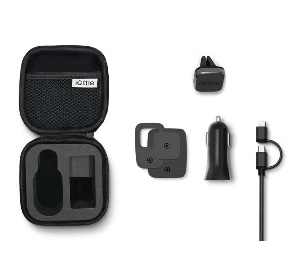 iOttie Travel Kit Uchwyt Magnetyczny + Ładowarka + Etui - 473103 - zdjęcie