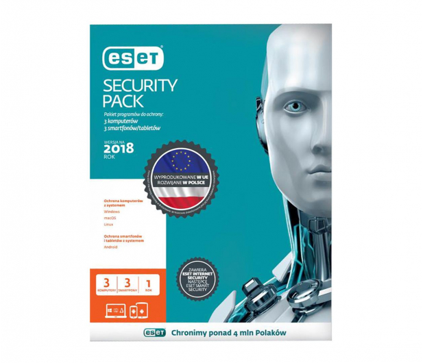 Eset  Security Pack 3PC + 3smartfony (12m.) ESD - 410821 - zdjęcie