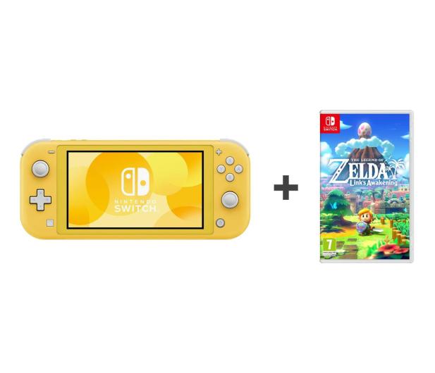Nintendo Switch Lite (Żółty) + Zelda: Link's Awakening - 521188 - zdjęcie