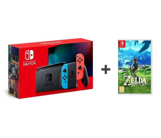 Nintendo Switch Joy-Con R/Blue + Zelda: Breath of the Wild - 521191 - zdjęcie