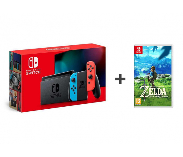Nintendo Switch Joy-Con R/Blue + Zelda: Breath of the Wild - 521191 - zdjęcie 1