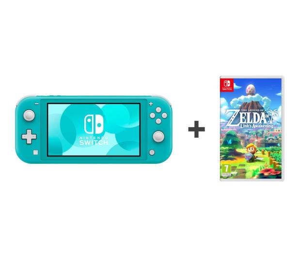 Nintendo Switch Lite (Morski) + Zelda: Link's Awakening - 521185 - zdjęcie