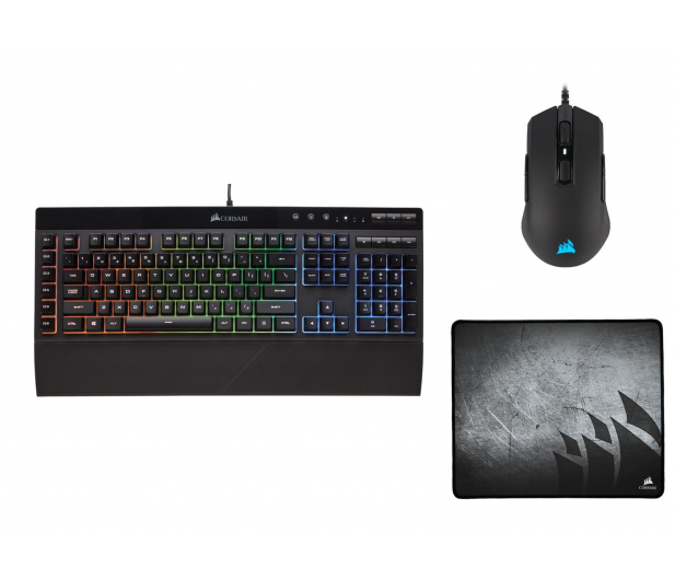 Corsair Gaming Bundle K55 RGB + M55 RGB Pro + MM300 Medium - 521269 - zdjęcie