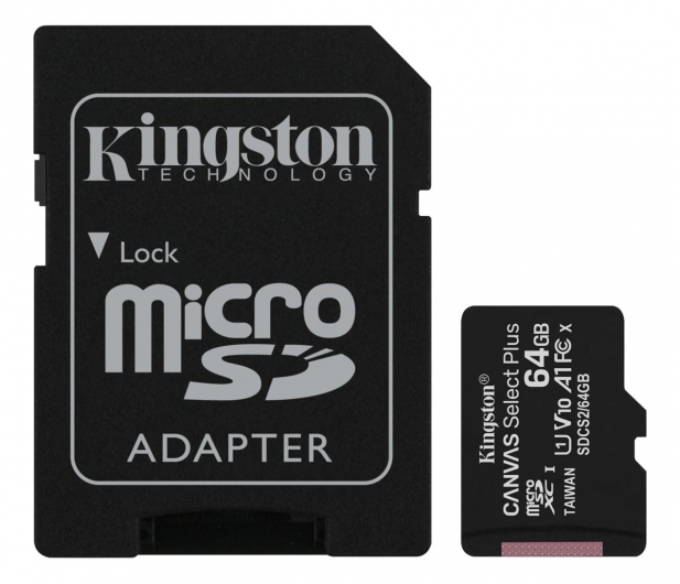 Kingston 64GB microSDHC Canvas Select Plus 100MB/s - 522794 - zdjęcie
