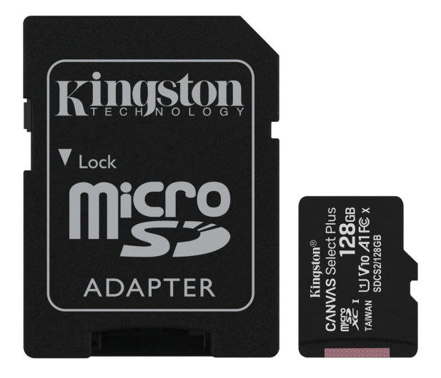 Kingston 128GB microSDHC Canvas Select Plus 100MB/s - 522795 - zdjęcie