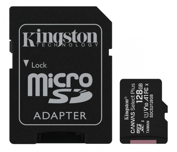 Kingston 128GB microSDXC Canvas Select Plus 100MB/s - 522795 - zdjęcie