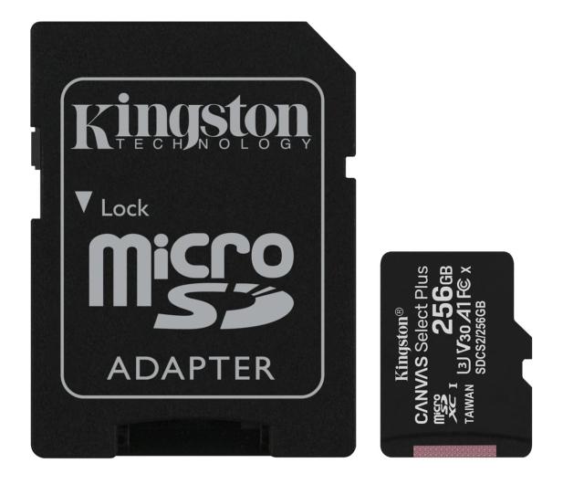 Kingston 256GB microSDHC Canvas Select Plus 100MB/85MB/s - 522796 - zdjęcie