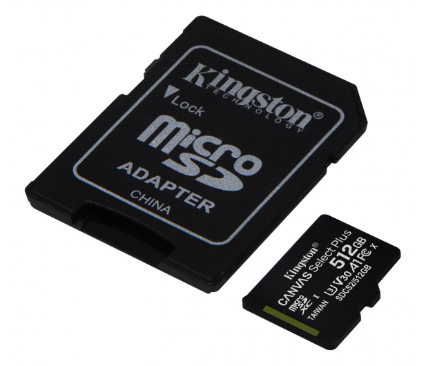 Kingston 512GB microSDXC Canvas Select Plus 100MB/85MB/s - 522797 - zdjęcie 2