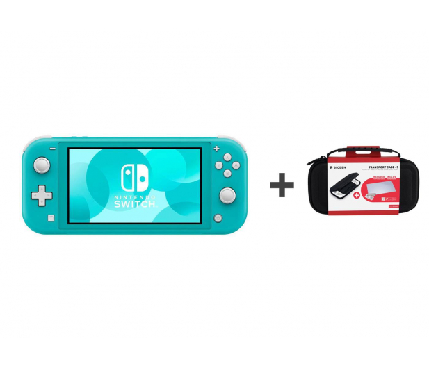 Nintendo Switch Lite (Morski) + Etui + Szkło - 520187 - zdjęcie
