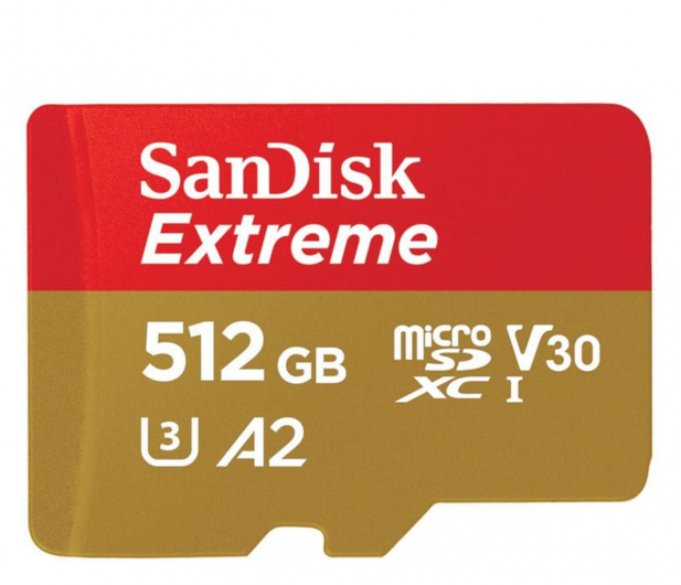 SanDisk 512GB Extreme microSDXC 160/90MB/s A2 C10 V30 - 523458 - zdjęcie