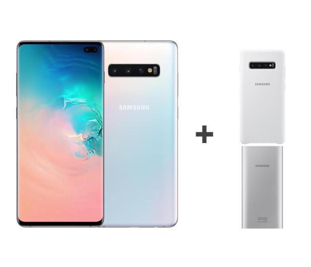 Samsung Galaxy S10+ G975F Prism White + ZESTAW - 493913 - zdjęcie 2
