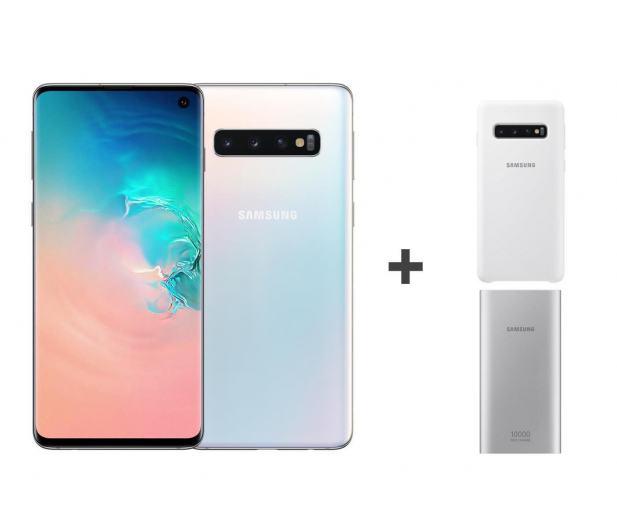Samsung Galaxy S10 G973F Prism White 512GB + ZESTAW - 493919 - zdjęcie