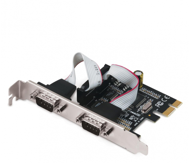 i-tec Karta rozszerzeń PCIe - 2x RS232 - 518548 - zdjęcie