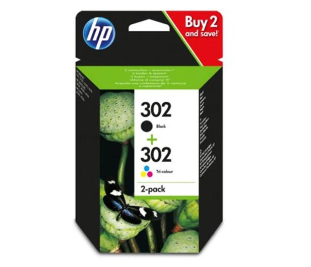 HP HP 302 black + CMY zestaw - 524088 - zdjęcie