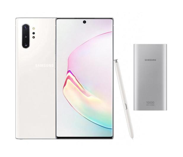 Samsung Galaxy Note 10+ Aura White + PowerBank 10000mAh - 525533 - zdjęcie