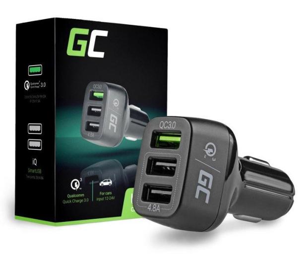 Green Cell Ładowarka Samochodowa 3xUSB Quick Charge 3.0 - 524698 - zdjęcie 3