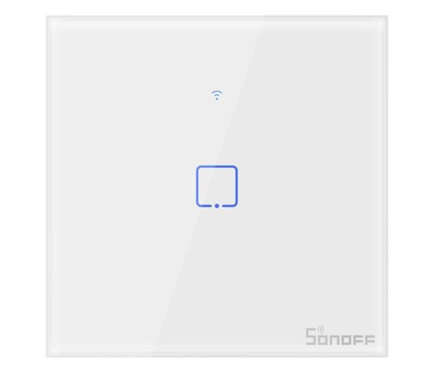 Sonoff Dotykowy Włącznik T1 EU TX (WiFi+RF433 1-kanałowy) - 524637 - zdjęcie