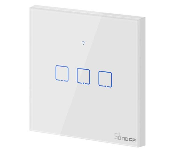 Sonoff Dotykowy Włącznik T1 EU TX (WiFi+RF433 3-kanałowy) - 524642 - zdjęcie 2
