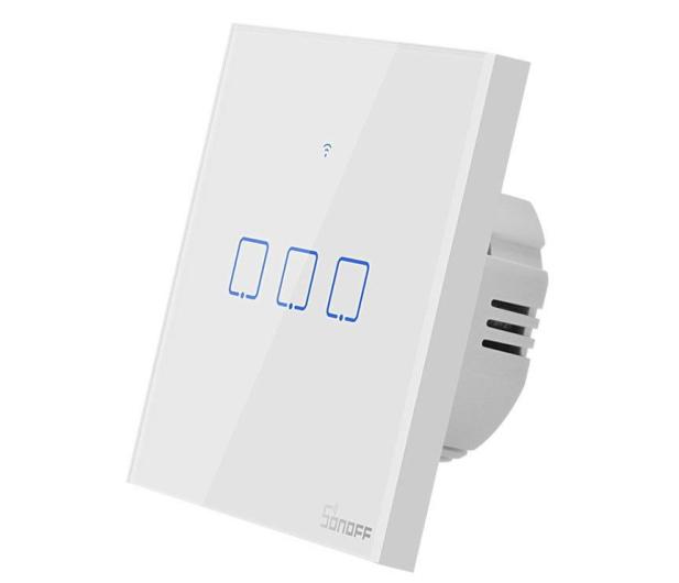 Sonoff Dotykowy Włącznik T1 EU TX (WiFi+RF433 3-kanałowy) - 524642 - zdjęcie 3