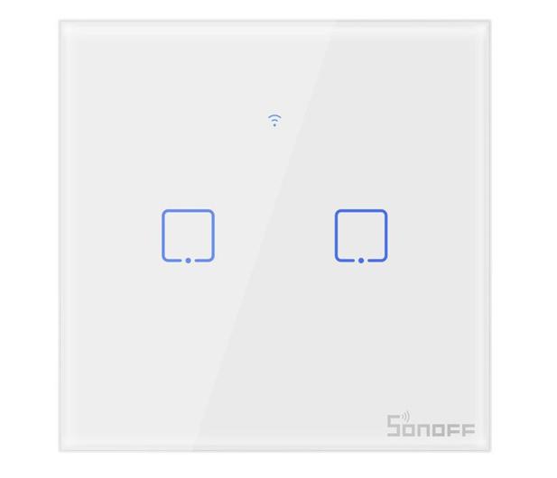 Sonoff Dotykowy Włącznik T1 EU TX (WiFi+RF433 2-kanałowy) - 524640 - zdjęcie