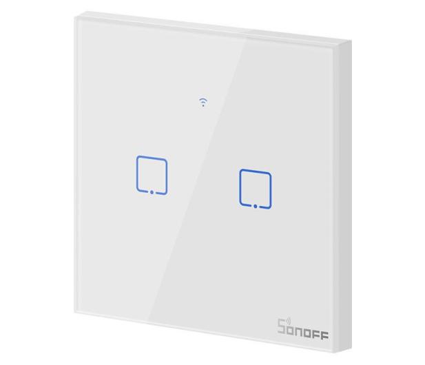Sonoff Dotykowy Włącznik T1 EU TX (WiFi+RF433 2-kanałowy) - 524640 - zdjęcie 2