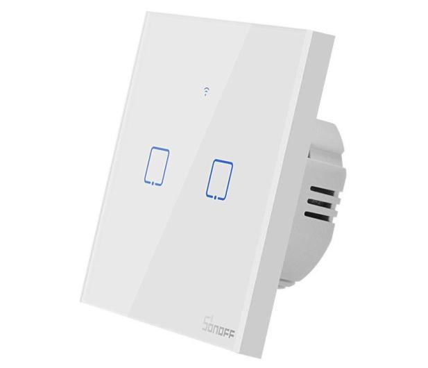 Sonoff Dotykowy Włącznik T1 EU TX (WiFi+RF433 2-kanałowy) - 524640 - zdjęcie 3