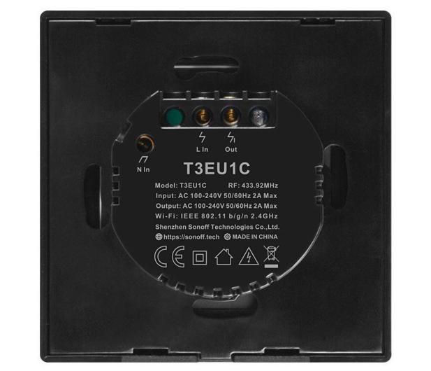 Sonoff Dotykowy Włącznik T3 EU TX (WiFi+RF433 1-kanałowy) - 524628 - zdjęcie 4