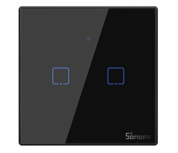 Sonoff Dotykowy Włącznik T3 EU TX (WiFi+RF433 2-kanałowy) - 524630 - zdjęcie