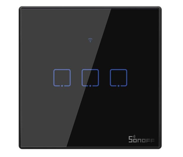 Sonoff Dotykowy Włącznik T3 EU TX (WiFi+RF433 3-kanałowy) - 524631 - zdjęcie
