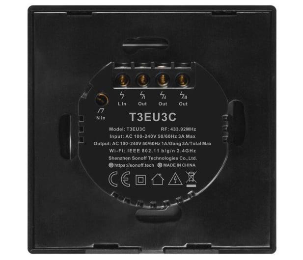 Sonoff Dotykowy Włącznik T3 EU TX (WiFi+RF433 3-kanałowy) - 524631 - zdjęcie 4