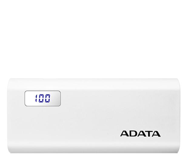 ADATA Power Bank P12500D 12500mAh 2A (biały) - 518794 - zdjęcie