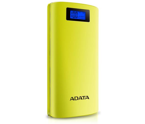 ADATA Power Bank P20000D 20000mAh 2.1A (żółty) - 518796 - zdjęcie 2
